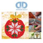 """Diamond Dotz Motiv """"Christbaumkugel"""", funkelndes Diamantbild zum Selbstgestalten ca. 13,5 x 13,5 cm groß, Malen mit Diamanten"""