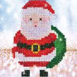 """Diamond Dotz Motiv """"Weihnachtsmann"""", funkelndes Diamantbild zum Selbstgestalten ca. 13,5 x 13,5 cm groß, Malen mit Diamanten"""