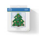 """Diamond Dotz Motiv """"Weihnachtsbaum"""", funkelndes Diamantbild zum Selbstgestalten ca. 13,5 x 13,5 cm groß, Malen mit Diamanten"""