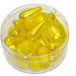 Glasperlen Mischung gewachst, 40 Gramm oder 250 Gramm im Beutel, 17 Farben zur Auswahl