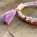 Katsuki Perlen 5mm mit 1,8 mm Loch, bunte Perlen aus Polymer Clay, mind. 350 St./Strang, verschiedene Farben
