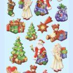 """3D SOFTY Sticker-Set """"Lustige Weihnacht"""", ca. 20 attraktive Aufkleber für Themenpartys oder zum Dekorieren zu Weihnachten"""