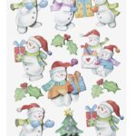 """Sticker-Set """"Lustige Schneemänner"""", ca. 11 attraktive Aufkleber für Themenpartys oder zum Dekorieren zu Weihnachten"""