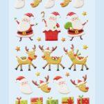 """3D SOFTY Sticker-Set """"Weihnachten"""", ca. 27 attraktive Aufkleber mit Weihnachtsmännern und Rentieren zum Dekorieren zu Weihnachten"""