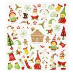"""HOBBY Design Sticker-Set """"Weihnachten"""", attraktive Aufkleber für Themenpartys oder zum Dekorieren zu Weihnachten"""