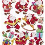 """3D XXL Sticker-Set """"Nikolaus"""", ca. 11 attraktive Aufkleber mit Weihnachtsmännern/Nikoläusen zum Dekorieren zu Weihnachten"""