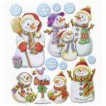 """3D XXL Sticker-Set """"Schneemänner"""", ca. 11 attraktive Aufkleber mit Schneemännern zum Dekorieren zu Weihnachten"""