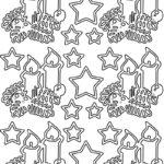 """Konturensticker-Set """"Kerzen/Sterne"""", ca. 10 attraktive Aufkleber mit Kerzen und Sternen zum Dekorieren zu Weihnachten, gold oder silber"""