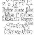 """Konturensticker-Set """"Frohes Neues Jahr"""", attraktive Aufkleber zum Dekorieren zu Silvester und Neujahr, gold oder silber"""